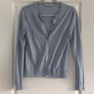 Light blue LOFT button up sweater